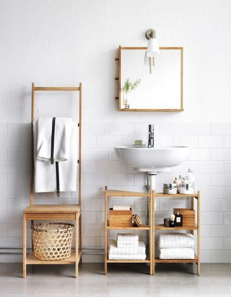 2 IKEA Ragrund stands for clever bathroom storage