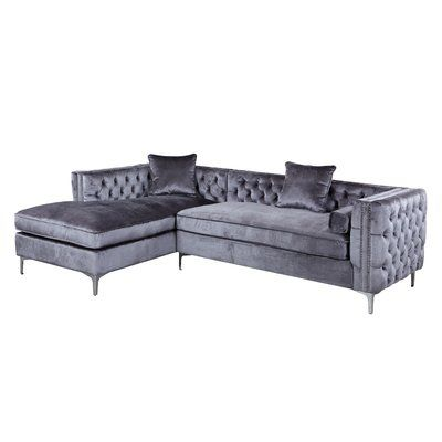 Rosdorf Park Marlon Sectional Wayfair Sectional Sofa Sectional Sofa With Chaise Velvet Sectional