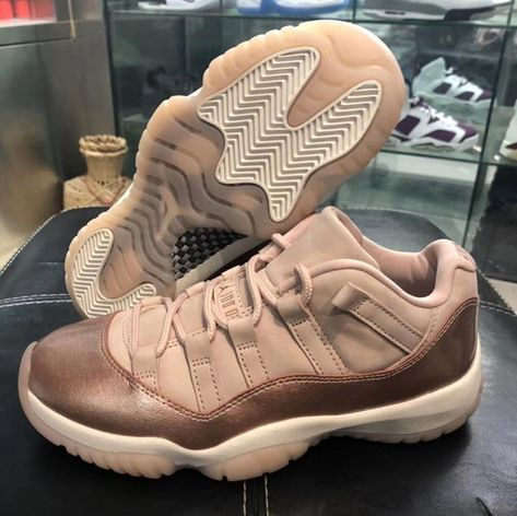 cheap for discount 20486 8619a AIR JORDAN 11 LOW ROSE GOLD RELEASE