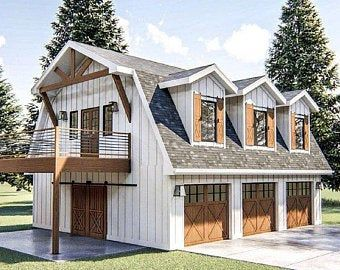 46x48 House 2 Bedroom 2 Bath 1157 Sq Ft Pdf Floor Etsy In 2020 Carriage House Plans Garage Guest House Barn House Plans