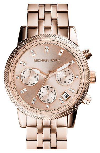 Michael Kors Watches Collection 2018 / 2019 : Michael Kors Ladies Ritz Rose Gold Plated Chronograph Watch * More info could be found at the image url. (This is an affiliate link) - Watches Topia - Watches: Best Lists, Trends & the Latest Styles