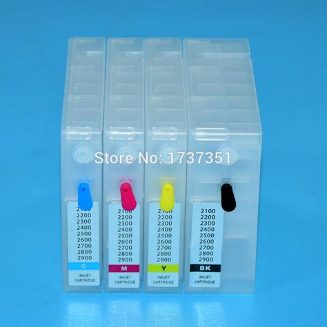 Stylus Photo 2200 empty refillable cartridges with Auto Reset Chips.