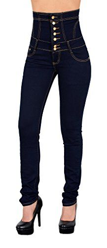 by tex Damen Jeans Hose Skinny Damen Röhrenjeans High Waist