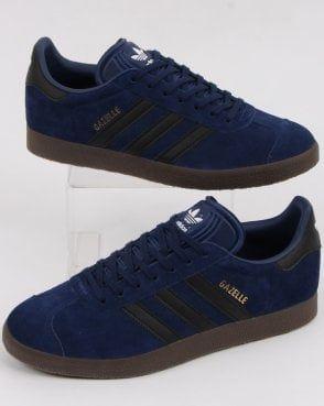 Adidas Gazelle Trainers Dark Blue/black