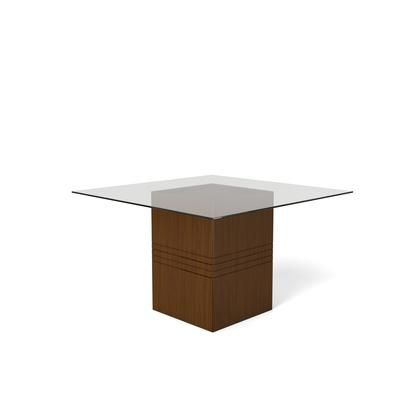 Perry 1 8 Collection 105151 55 Square Table With Sleek Tempered