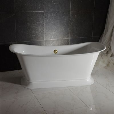 The Valloires59 59 Freestanding Cast Iron Chariot Tub With A