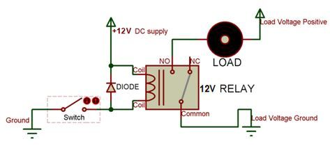 12v Relay Working Relay Switch Electronics Circuit