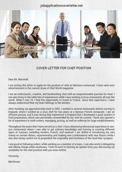 cover-letter-for-chef-positionjpg (595×842 - cover letter for chef