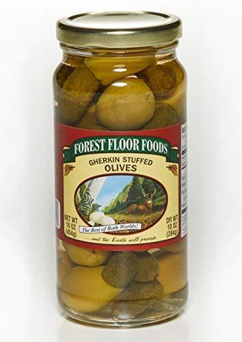 Forest Floor Foods Gherkin Stuffed Queen Olive 16 Ounce In