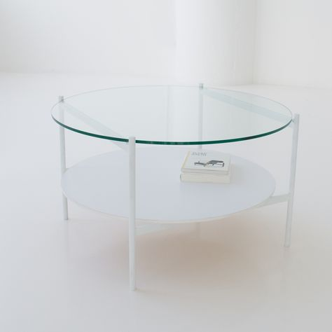 Double Tier Round Coffee Table