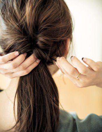 ストレートのヘアアレンジ 巻かないから簡単 ロング ミディアム