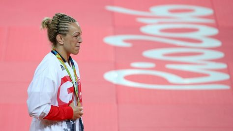 Sally Conway of Britain with her bronze medal for judo