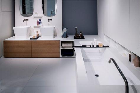Mobile bagno a giorno ad angolo basso in legno design NEXT | Mobile ...