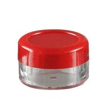 bb354b3d5518 10pcs 5g Cream jars Empty red lid Eye shadow case Travel refillable ...