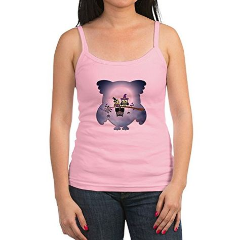 Truly Teague Womens Tank Top Little Spooky Vampire Owl with Friends
