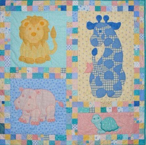 Quilt Patronen Baby.Baby Animal Quilt Babydekens Quiltpatronen En Naai Baby