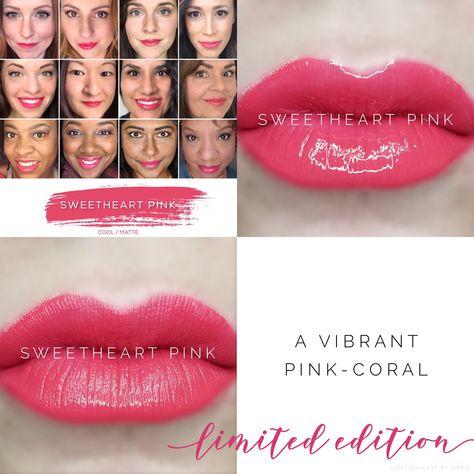Sweetheart Pink LipSense collage Limited Edition LipSense
