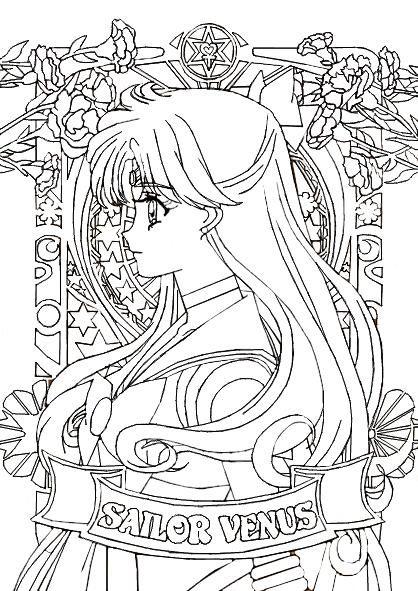 Smc Portraits Sailor Venus By Misslily1990 On Deviantart In 2020 Sailor Moon Coloring Pages Moon Coloring Pages Sailor Moon Art