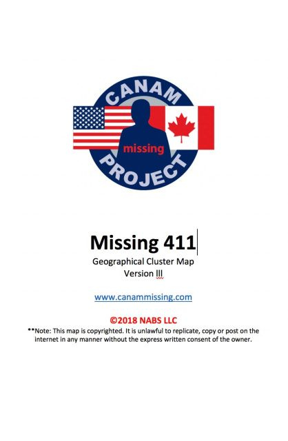 Missing 411- Geographical Cluster Map- Version 3 | WANT ...