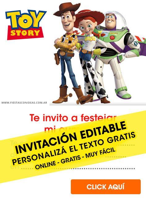 Tarjeta De Cumpleaños De Toy Story Cumpleaños De Toy Story