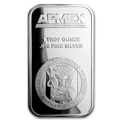Apmex 1 Oz Silver Bar 999 Fine