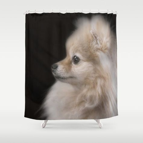 Willow The Pretty Pomeranian Puppy Shower Curtain By Hightonridley