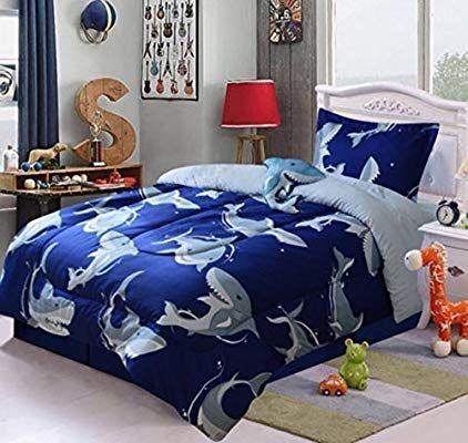 Amazon Com Jorge S Home Fashion Shark Attack Ultimate Boys Collection Comforter Set 3 Pcs Twin Size Hom Twin Size Comforter Comforter Sets Twin Size Bed Sets Twin size bedding for boy