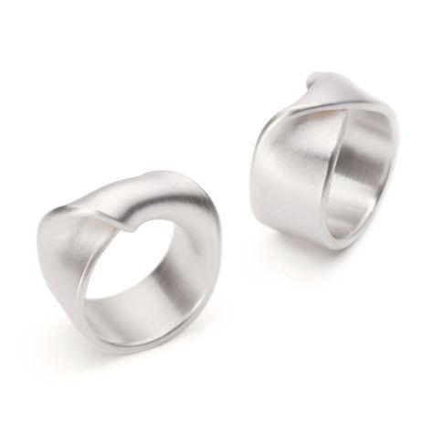 ORRO Contemporary Jewellery Glasgow - Leen Heyne - Silver Fold Rings - Sterling Silver Modern Rings at ORRO Glasgow Scotland UK