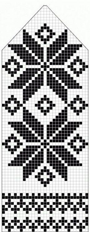 northern star / snowflake motif ~~ knitted mitten pattern ~~ also ...