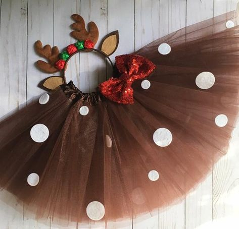 Diy Reindeer Costume, Diy Christmas Costumes, Halloween Decorations, Christmas Crafts, Christmas Decorations, Girl Deer Costume, Real Tree Camouflage, Friend Birthday Gifts, Metal Jewelry