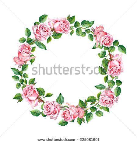 Rose Flower Wreath Floral Circle Border Watercolor Flower Boarders Flower Circle Flower Frame Png