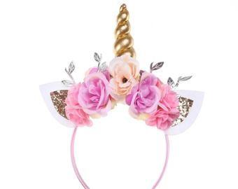 Toddler Floral Unicorn Headband