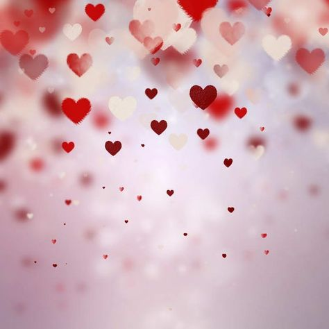 Wedding Red Heart Love Pattern Photography Studio Backdrop Background