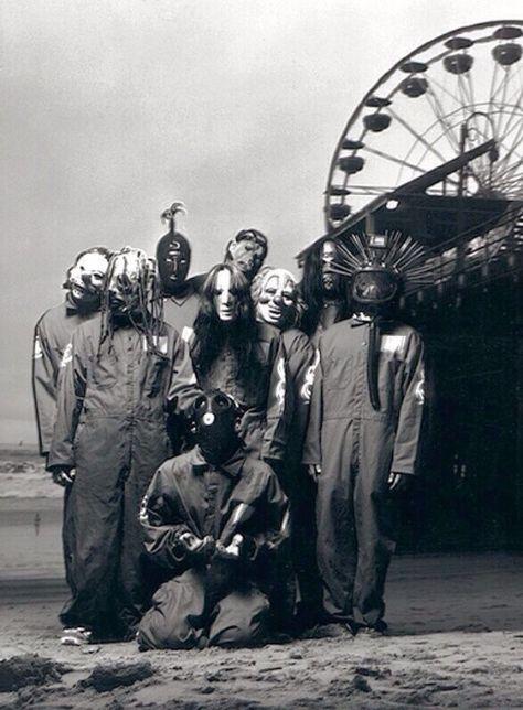 Slipknot Self Titled Group Shot Nu Metal, Rock Y Metal, Corey Taylor, Heavy Metal Music, Heavy Metal Bands, Death Metal, Slipknot Band, Slipknot Quotes, Slipknot Tattoo