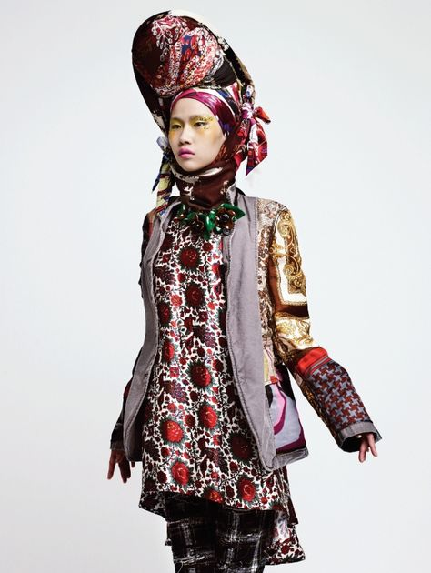 Haute Piled headwear Won Kyoung Kim Harper's Bazaar Korea November 2011