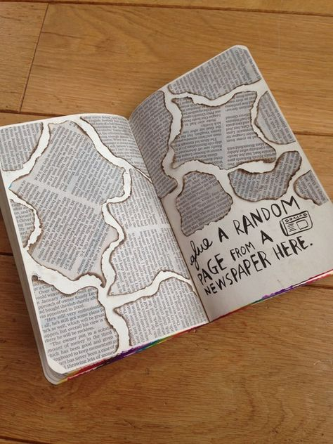 Glue a random page from a newspaper here 😝 #wreckthisjournal
