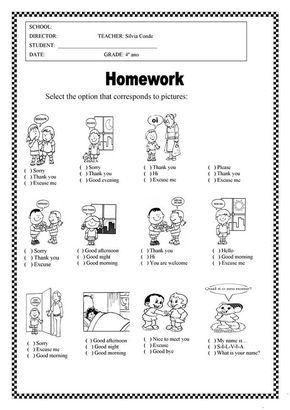 Printable Work Sheets For Children Em 2020 Ensino De Ingles