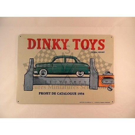 PLAQUE EN TÔLE EMBOSSÉE VINTAGE DINKY TOYS ATLAS  21 X 28.5 cm
