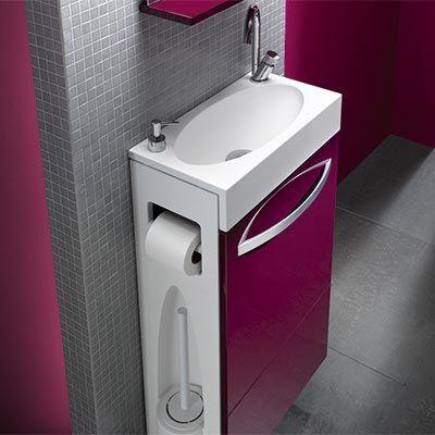 Lave Mains Et Meuble Decotec Combo Espace Aubade Salle De Toilette Idee Salle De Bain Petit Lavabo