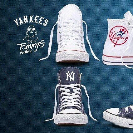 Converse custom for big NY Yankees fan