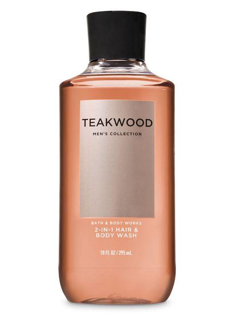 Bath Body Works Teakwood 2 In 1 Hair Body Wash In 2020 Bath