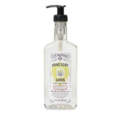 J R Watkins 11 Oz Aloe And Green Tea Scented Pump Bottle Hand Soap Case Of 6 Clear Liquid Hand Soap Soap Aloe
