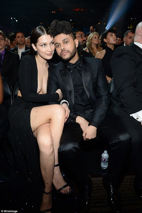 Adorable: During the show, while sat in the audience, Bella and The Weeknd continued to pack on the PDA