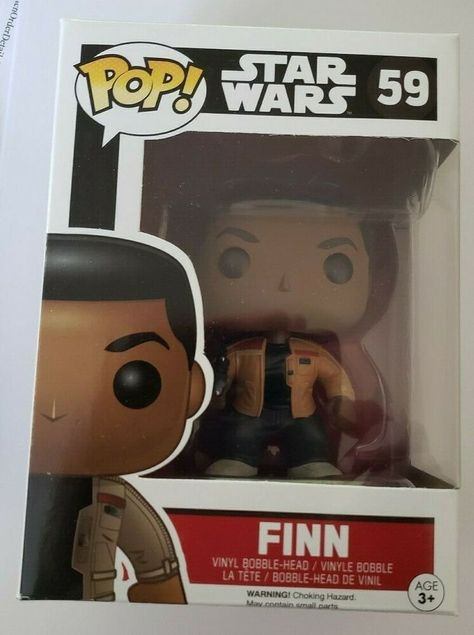 Figura vinile Finn Star Wars VII Pop Funko bobble-head Vinyl figure n° 59
