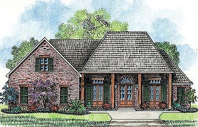 Plan 56398sm 3 Bed Creole Inspired House Plan Madden Home Design Family House Plans French Country House Plans