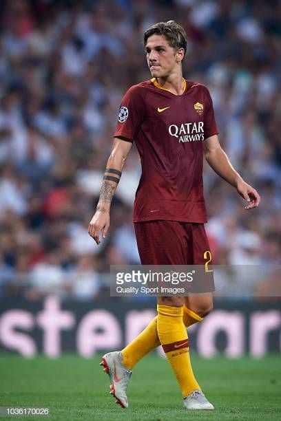 Nicolo Zaniolo of AS Roma looks on during the Group G match of the ...