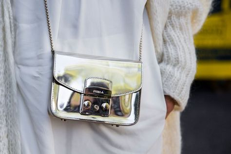 Pin for Later: Updated! See All the Quirky-Cool Shoes and Bags We Spotted at MFW Milan Fashion Week, Day 3 Furla bag.
