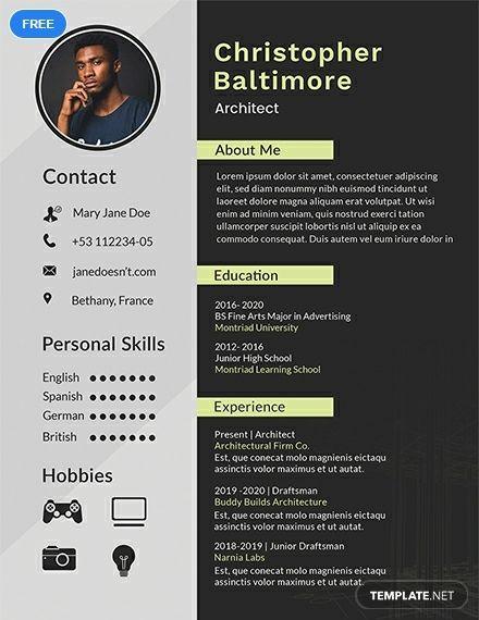 Architect Resume Cv Template Word Psd Apple Pages Publisher Resume Design Creative Architect Resume Resume Design