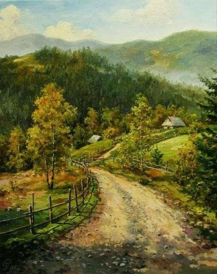 Pin By Rebecca Chargin On Amazing Art Landscape Paintings Realistic Paintings Landscape Art
