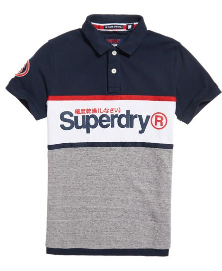Superdry Grey and White Polo Shirt Superdry Polo Shirts